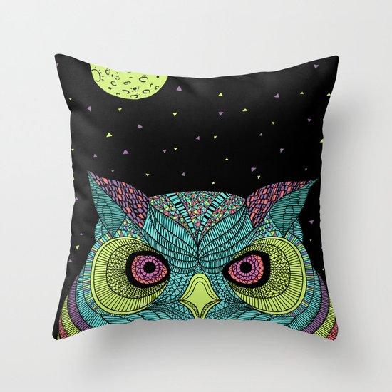 The Mystique Owl Throw Pillow