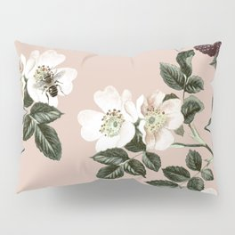 Bee Blackberry Bramble Coral Pink Pillow Sham