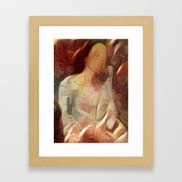 Woman in negligee Framed Art Print