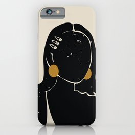 Black Hair No. 16 iPhone Case