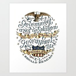 small government, larger freedom Art Print