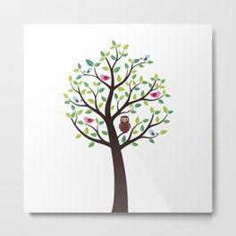 The bird tree guardian Metal Print