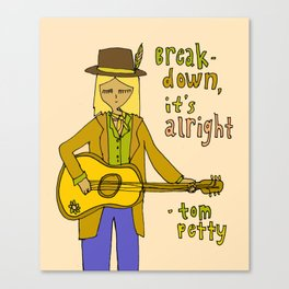tom petty tribute // forever love your rock and roll soul Canvas Print