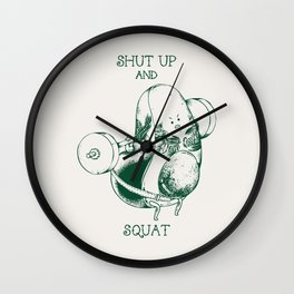 Avocado Squat Wall Clock