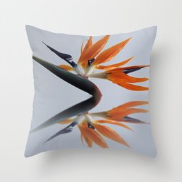 The bird of paradise flower Throw Pillow