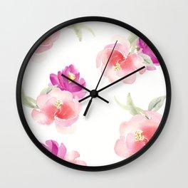 WATERCOLOR FLORAL PILLOW, ROSE PILLOW, ROSE WATERCOLOR Wall Clock