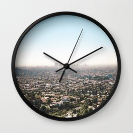 View of the Angels Wall Clock