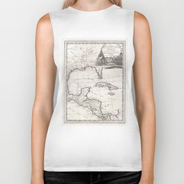Vintage Map of The Gulf of Mexico (1798) Biker Tank