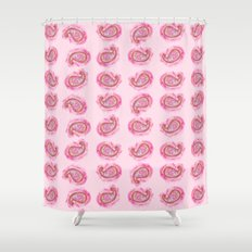 Paisley Watercolor in Rose Pink Shower Curtain