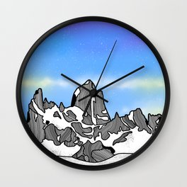 Monte Fitz Roy Wall Clock