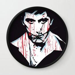 Scarface art portrait Wall Clock