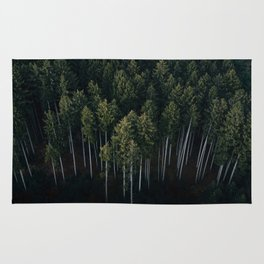 Aerial Photograph of a pine forest in Germany - Landscape Photography Rug