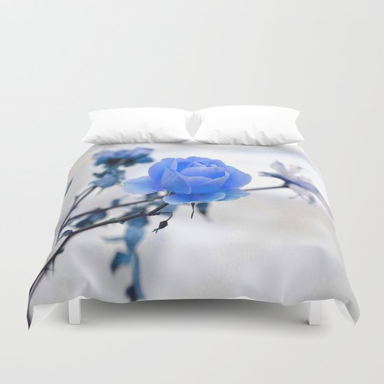 Blue Rose Simplicity Duvet Cover