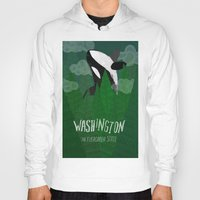 washington Hoodies featuring Washington by Santiago Uceda