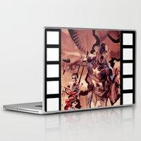 captain silva Laptop & iPad Skins featuring captain by Flo Zero