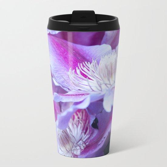 Clematis Flowers Close-Up #1 #decor #art #society6 Metal Travel Mug