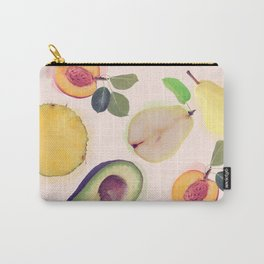 seamless   pattern with fresh fruits . Endless texture Carry-All Pouch