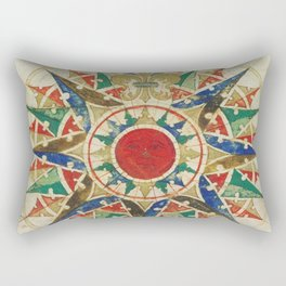 Vintage Compass Rose Diagram (1502) Rectangular Pillow