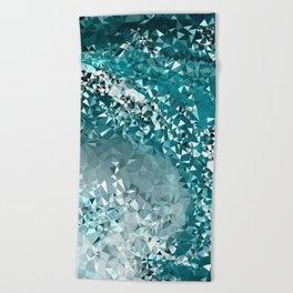 Crashing Tris Beach Towel