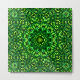 Kaleidoscope , mandala , ornament 14 Metal Print