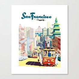 Sanfrancisco vintage mode Canvas Print