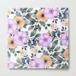 FLOWERS WATERCOLOR 21 Metal Print