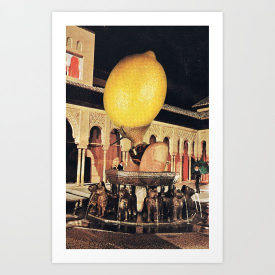 The big lemon Art Print