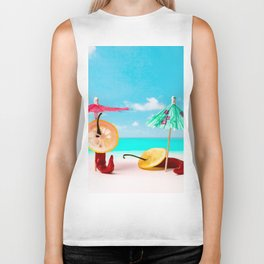 The Red, the Hot, the Chili on the beach Biker Tank