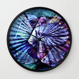 BLUE AQUATIC SOUND Wall Clock