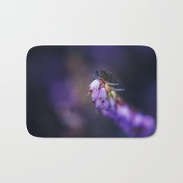 Calluna Vulgaris Flower - Pink Heather Flora Bath Mat