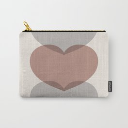 Hearts - Cocoa & Gray Carry-All Pouch