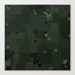 Duffel Bag Square Pixel Camouflage Color Accent Canvas Print