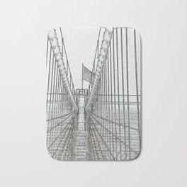 Brooklyn Bridge Cables Abstract Bath Mat