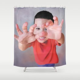 Shy Jonah Shower Curtain