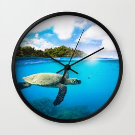Tropical Paradise Wall Clock