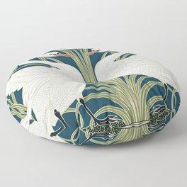 Swan Rush and Iris by Walter Crane Floor Pillow