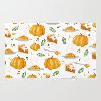 pumpkin Area & Throw Rugs featuring pumpkin by Ceren Aksu Dikenci