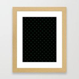 Cadmium Green on Black Snowflakes Framed Art Print