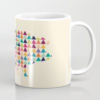 piglet Mugs featuring Piglet Geometric by ArtisanObscure Prints