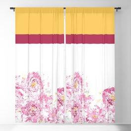 Colorblock Camellia Blackout Curtain