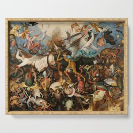 The Fall of the Rebel Angels, 1562 by Pieter Bruegel the Elder Serving Tray