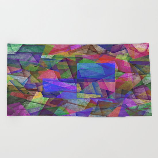 Pieces Of colour - Abstract, colour fragments Beach Towel