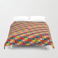 pixel art Duvet Covers featuring Pixel by Colocolo Design | www.colocolodesign.de
