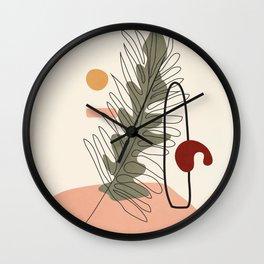 Minimal Line Palm Wall Clock