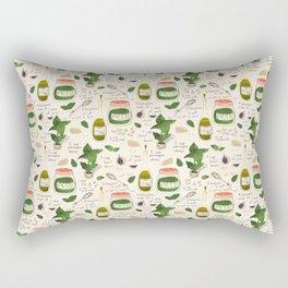 Pesto. Illustrated Recipe. Rectangular Pillow