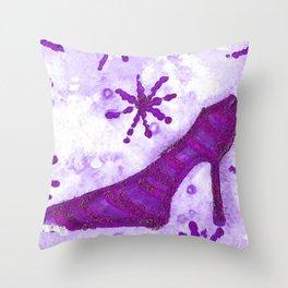 Snowflake Shoe - Purple Palette Throw Pillow