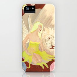 The Fae, The Lion and The Endless space iPhone Case