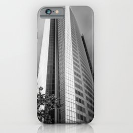 Unique curved shape facade of Aurora Place in Sydney iPhone Case
