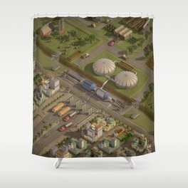 Biogas City Shower Curtain