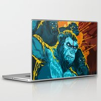 planet of the apes Laptop & iPad Skins featuring Dawn Of The Planet Of The Apes by KD Artwork